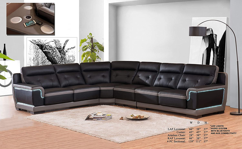 Amazon.com: Esofastore Ultra Bonded Leather Living Room Furniture ...