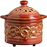 "Hosley's Red Electric Potpourri Warmer, 5.75"" Diameter. Ideal Gift for Wedding, Special Occasions, Spa, Aromatherapy, Reiki, Meditation Settings and Home Office O9"