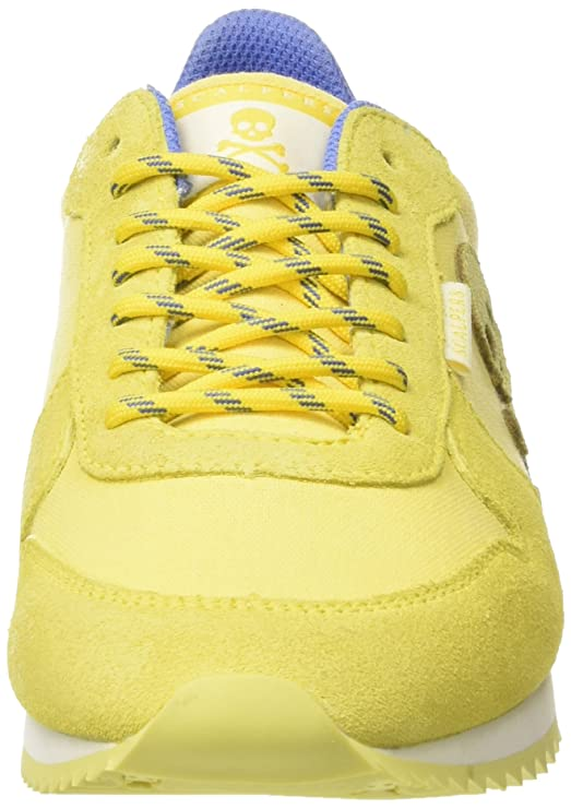 Scalpers Skull Insignia 04 Sneakers, Yellow, 40 para Hombre