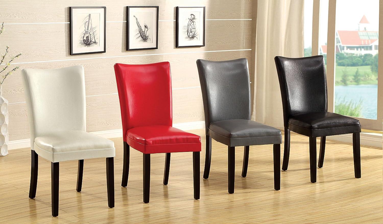 Amazon.com - Furniture of America Jacob Parson Style Leatherette ...
