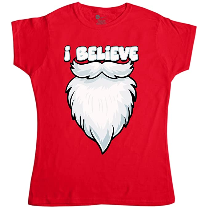 92a1bfc67 Amazon.com: Womens Funny Christmas T Shirt - I Believe: Clothing