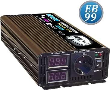 ELBOX99 Inversor 2000W 4000W 12V Convertidor De Onda