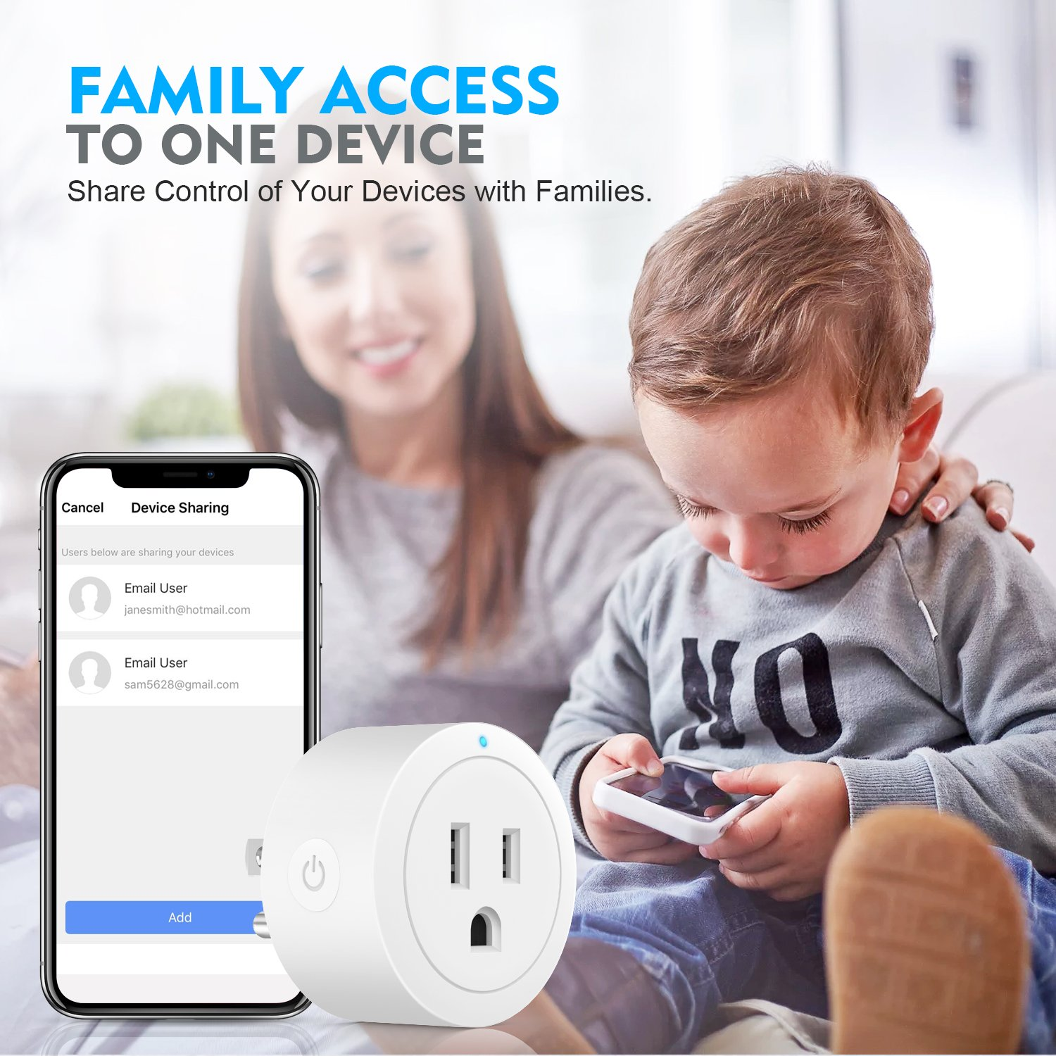 Wi-Fi Smart Plug Outlet Timer Mini Socket Compatible with Alexa Google Home Ifttt No Hub Required Control Your Devices from Anywhere 4 Pack Esicoo wifi plug