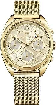 Reloj para mujer Tommy Hilfiger 1781488, mecanismo de cuarzo, diseño con varias esferas, correa chapada en oro.: Amazon.es: Relojes