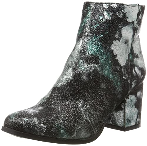 Vero Moda Vmgina Boot, Botines Mujer, Multicolor (Black_Pink Flowers), 40 EU