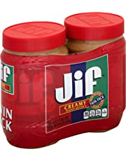Jif Creamy Peanut Butter, 40 oz. (2 Count) –  7g (7% DV)  of Protein per Serving, Smooth, Creamy Texture – No Stir Peanut Butter