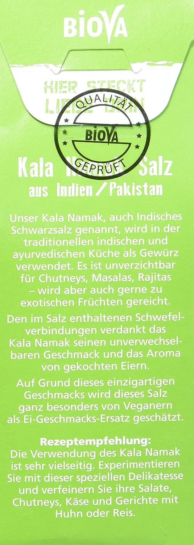 Kala Namak Salz Schwarzsalz Feinstreu 200g Packung