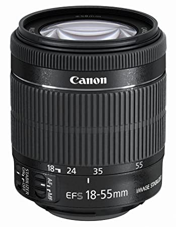 EF-S 18-55mm f/3.5-5.6 is STM Camera Lenses at amazon