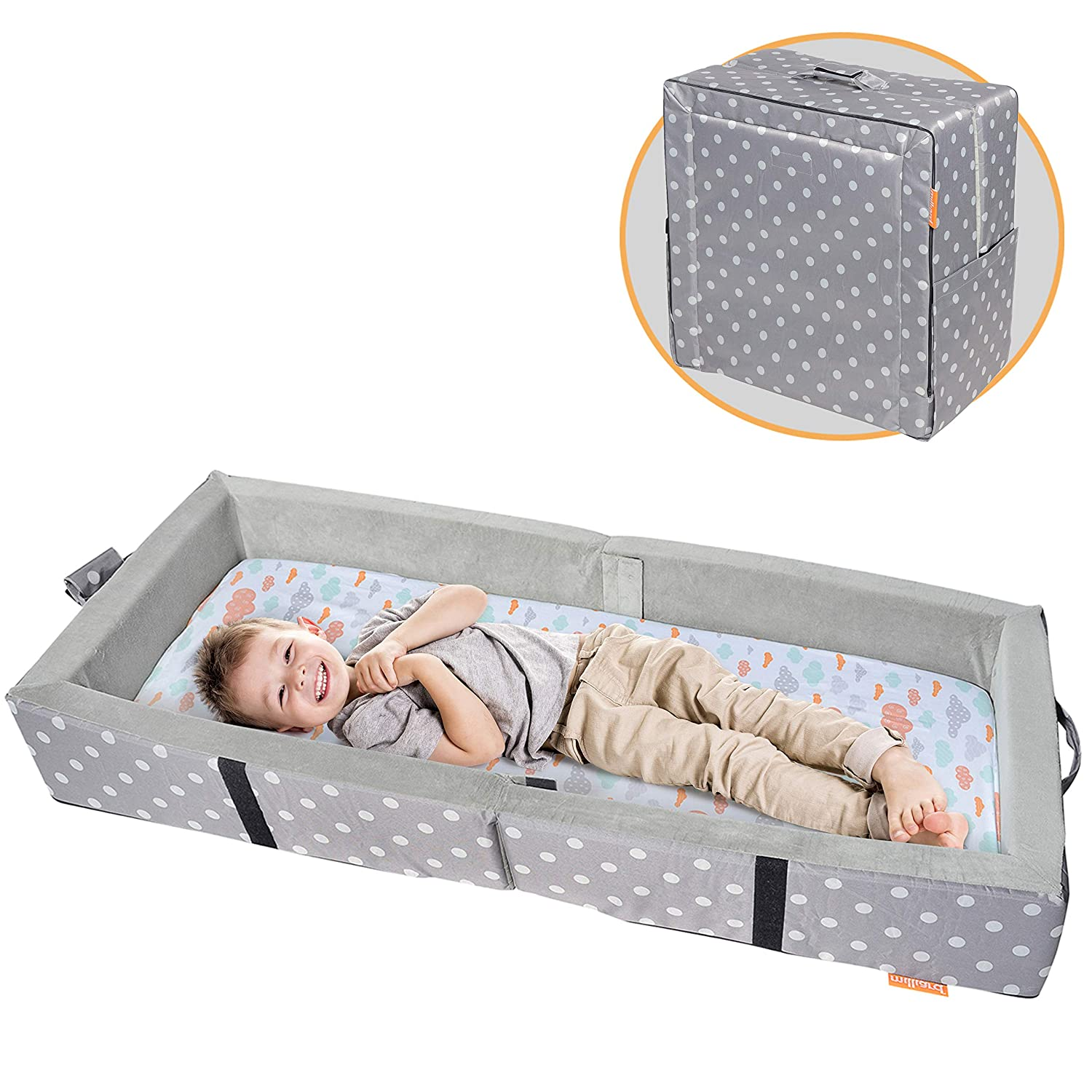 Milliard Portable Toddler Bumper Bed - Travel Bed for Toddler