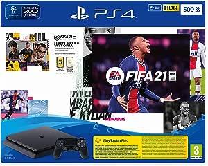 PlayStation 4 Slim 500GB + FIFA21+FUT 21 Promo Code