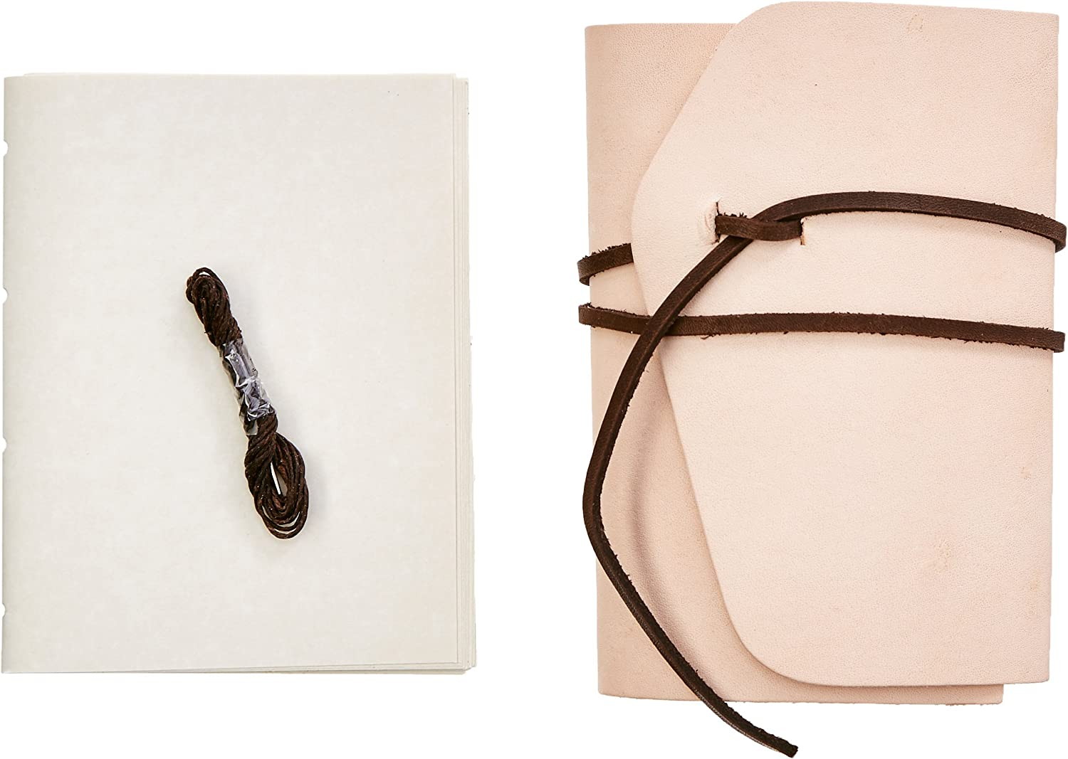 """Realeather Leather Journal Kit, 4.5""""x6"""", Natural"""