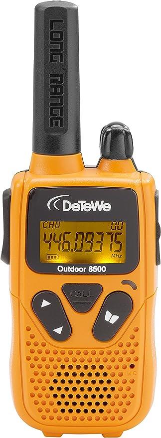 Detewe Outdoor 8500 Pmr Funkgerät 2er Set Reichweite Bis Zu 10 Km Heimkino Tv Video