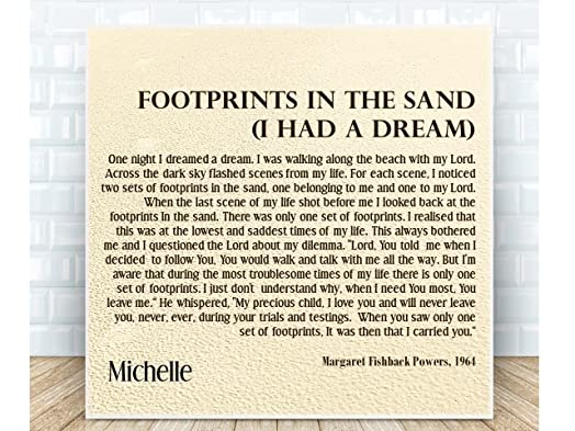Footprints in the sand personalised ceramic plaque boxed the footprints in the sand personalised ceramic plaque boxed the perfect inspirational gift negle Gallery