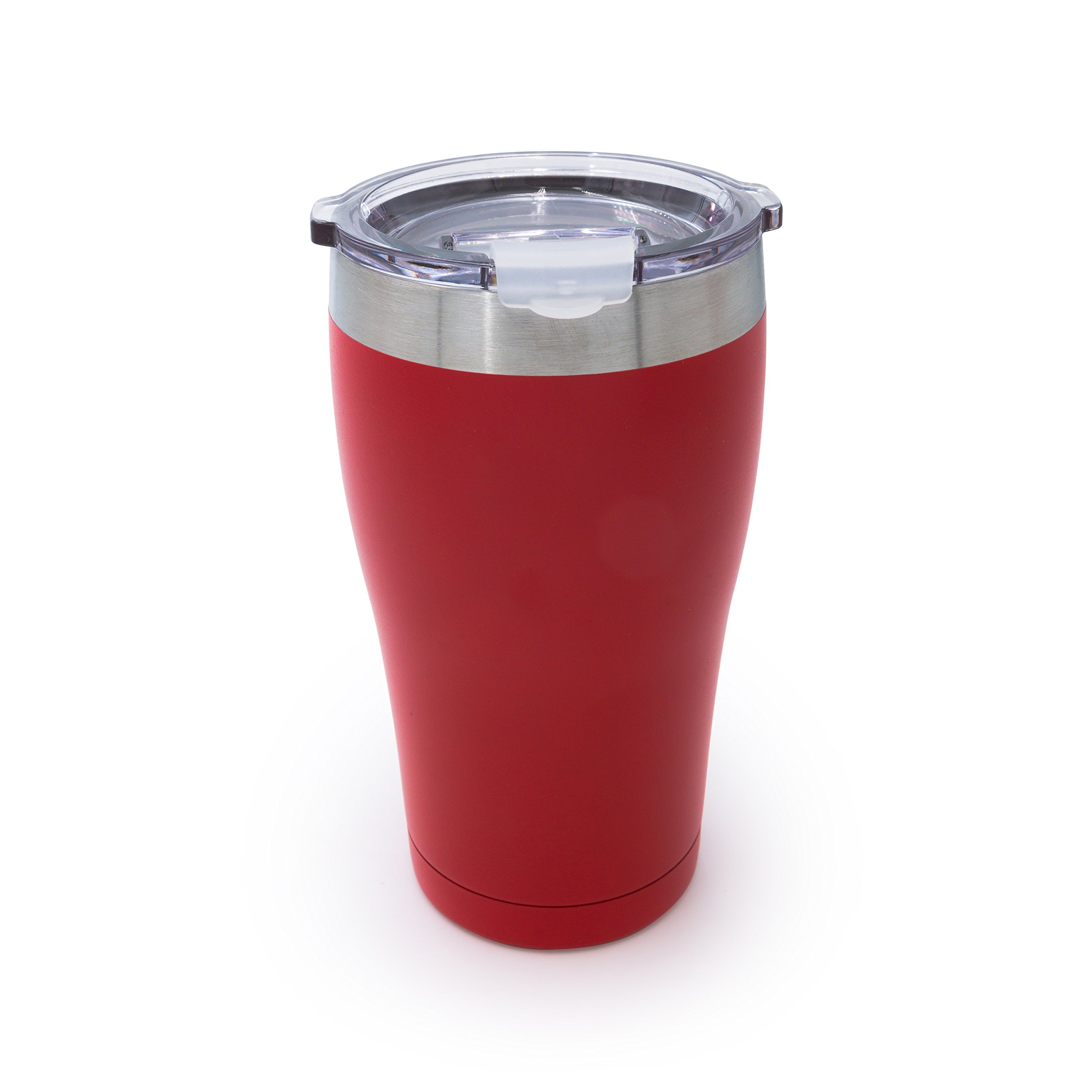 Tahoe Trails Stainless Steel Tumbler Vacuum Insulated Double Wall Travel Cup with Lid (red, 16oz)