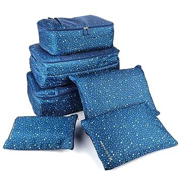 X charmer - Organizador para Maletas Dark Blue Five-Pointed Star: Amazon.es: Equipaje