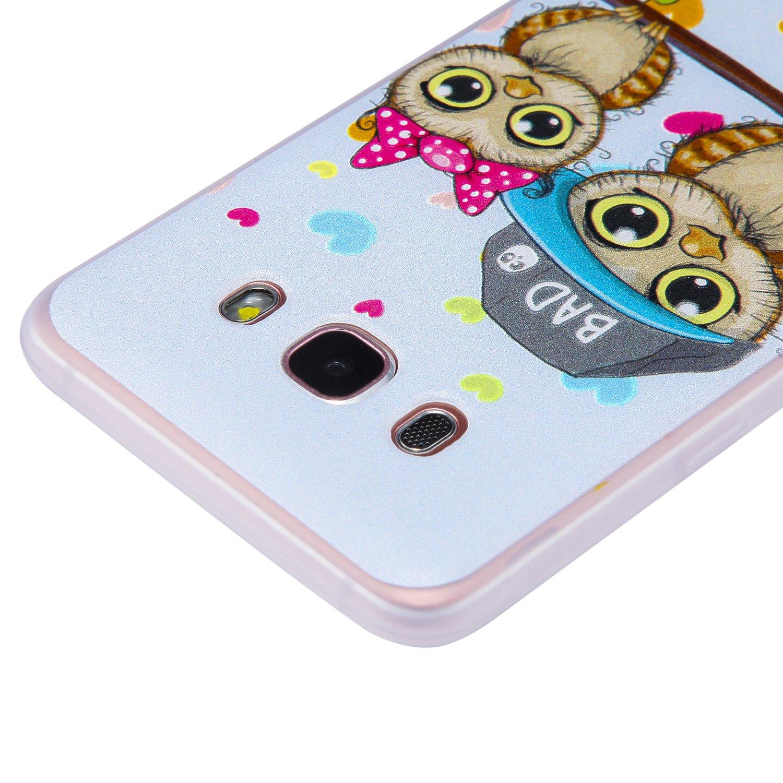 Leopardo Bianco COZY HUT Custodia Cover Samsung Galaxy J5 2016 Silicone Cover Bumper Case Antiscivolo AntiGraffio Antiurto Ultra Sottile TPU Morbida Protettiva Case per Samsung Galaxy J5 2016