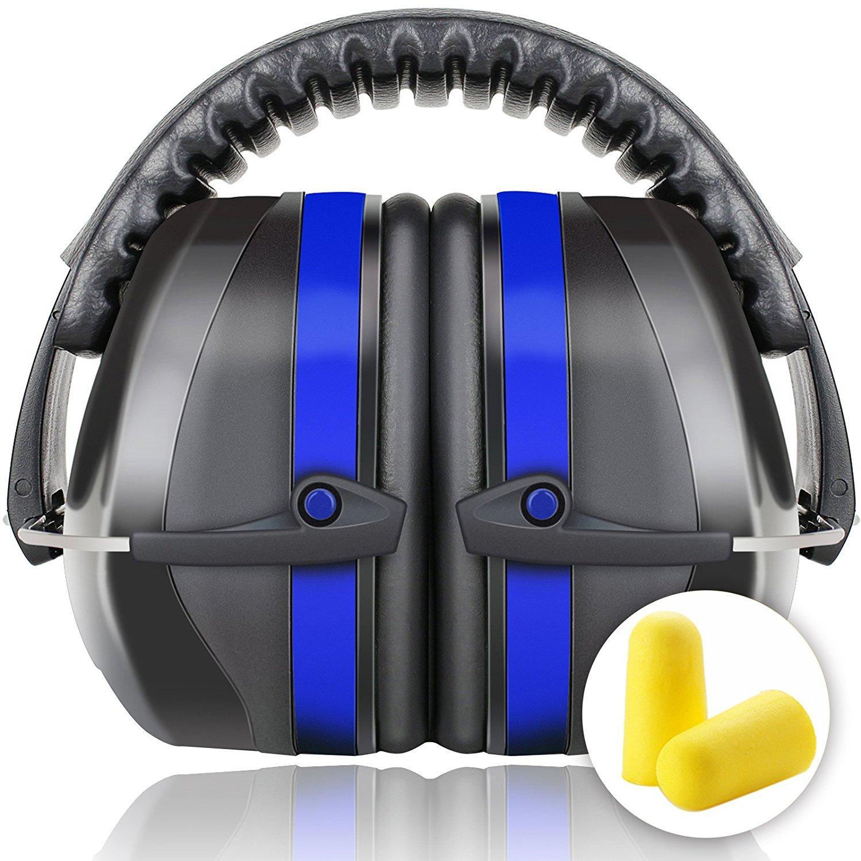 Fnova Protectores auditivos 34dB más altas Muffs NRR,Oído defensiva Banda de protección /Disparos