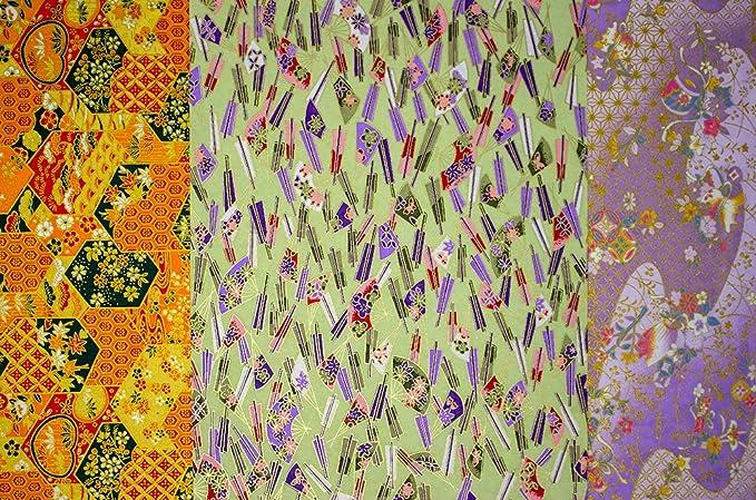 2 sheets A4 Japan Yuzen Washi Chiyogami Paper P30