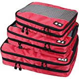 BAGSMART Travel Packing Cube (Small-Large 3 Piece) for Carry-on Travel Accessories, Suitcase and Backpacking (Double Compartment)
