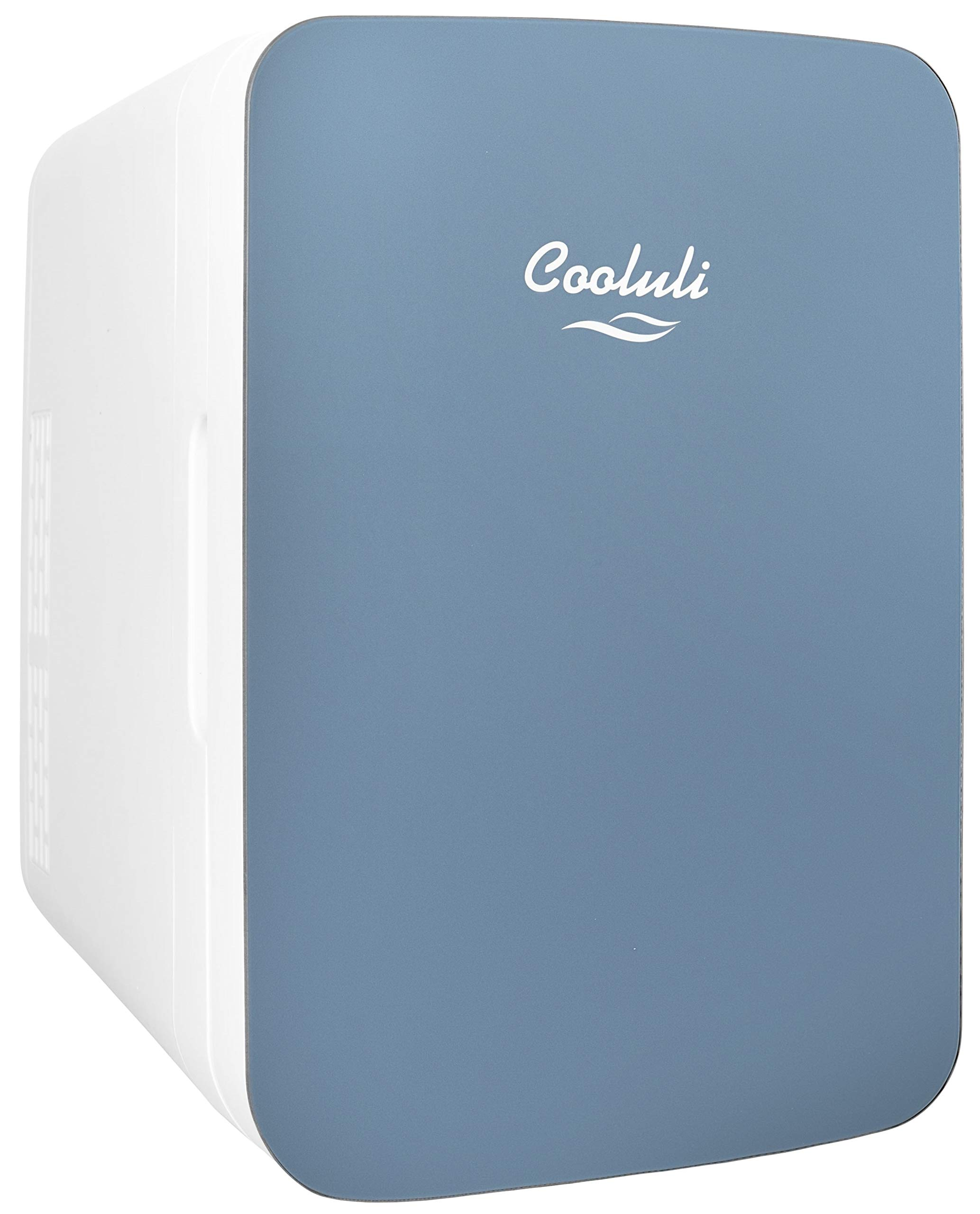 Cooluli Infinity 10-liter Compact Cooler/Warmer Mini Fridge for Cars, Road Trips, Homes, Offices, and Dorms (Blue)