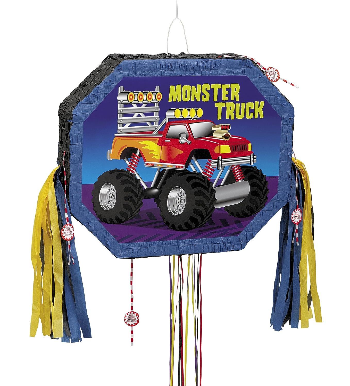 amazon com monster truck pinata pull string kitchen u0026 dining