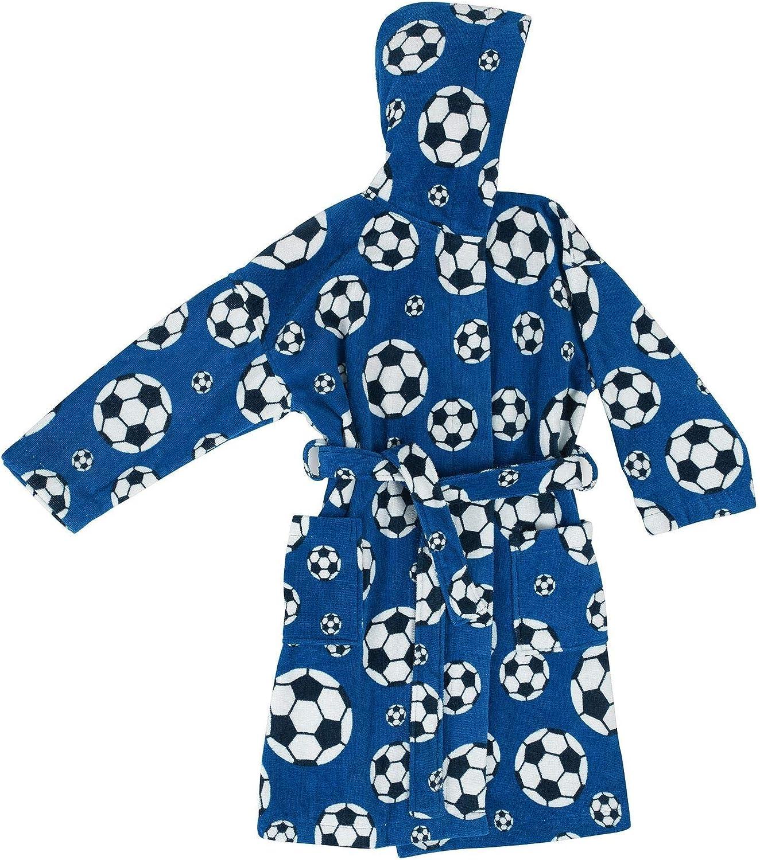 Bassetti Accappatoio Baby Bambino Goal con Cappuccio Cotone 100/% ciniglia 6-8 Anni