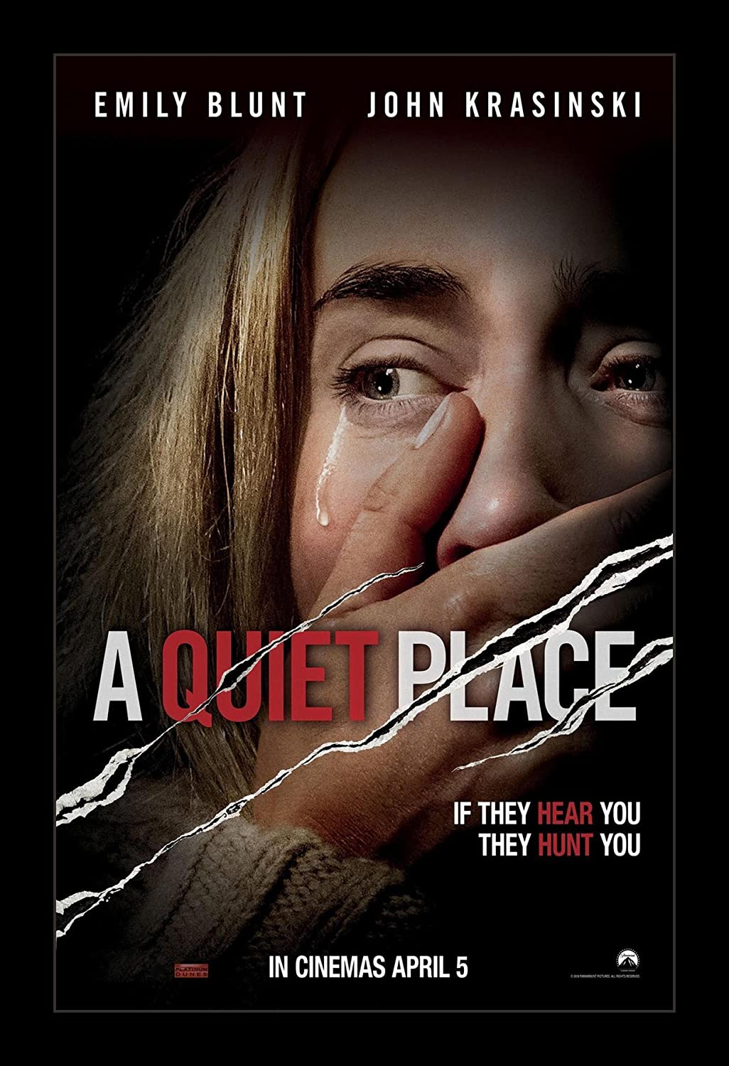 Amazon.com: Wallspace A Quiet Place - 11x17 Framed Movie Poster ...