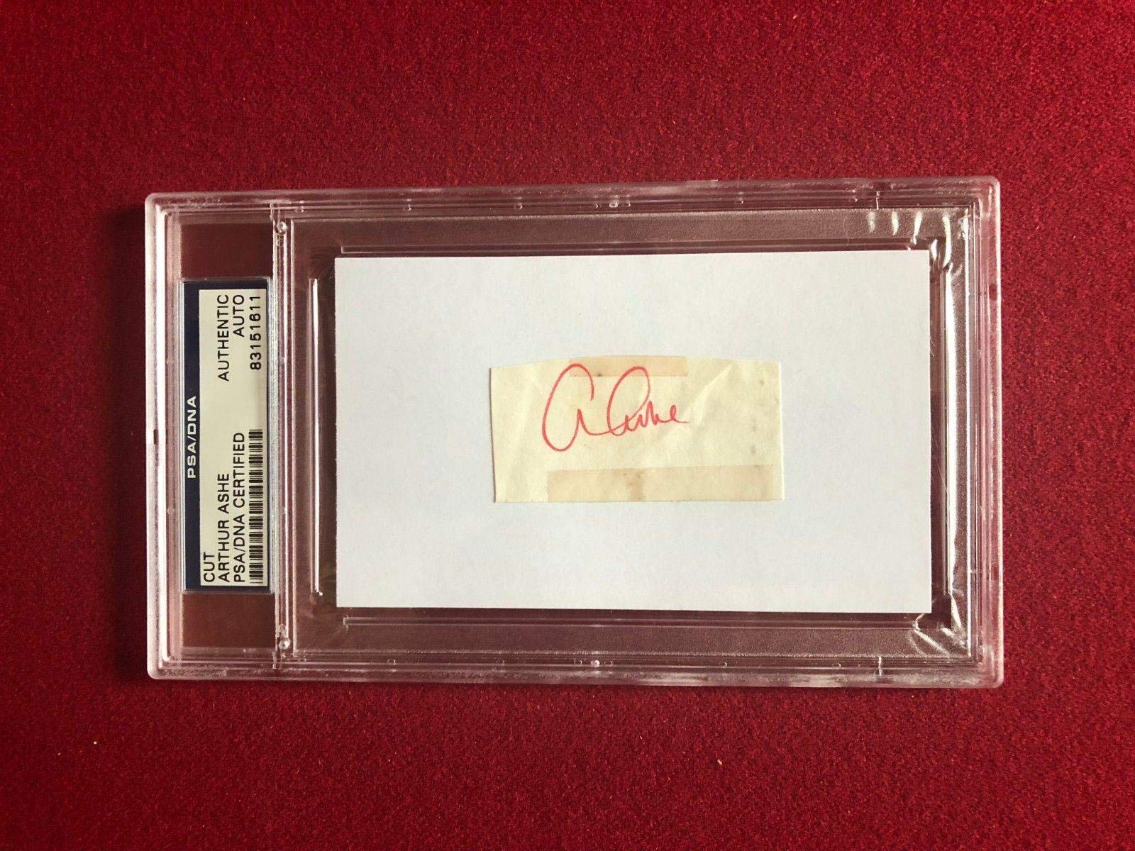 "Arthur Ashe,""Autograph"" (/ DNA) Encapsulated Cut (Scarce) PSA/DNA Certified Tennis Cut Signatures"