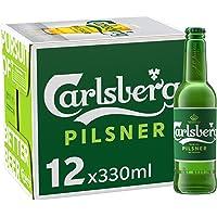 Cerveza Importada Premium Carlsberg 12 botellas de 330ml c/u