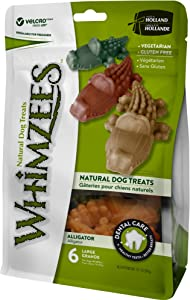 Whimzees Natural Grain Free Dental Dog Treats, Alligator