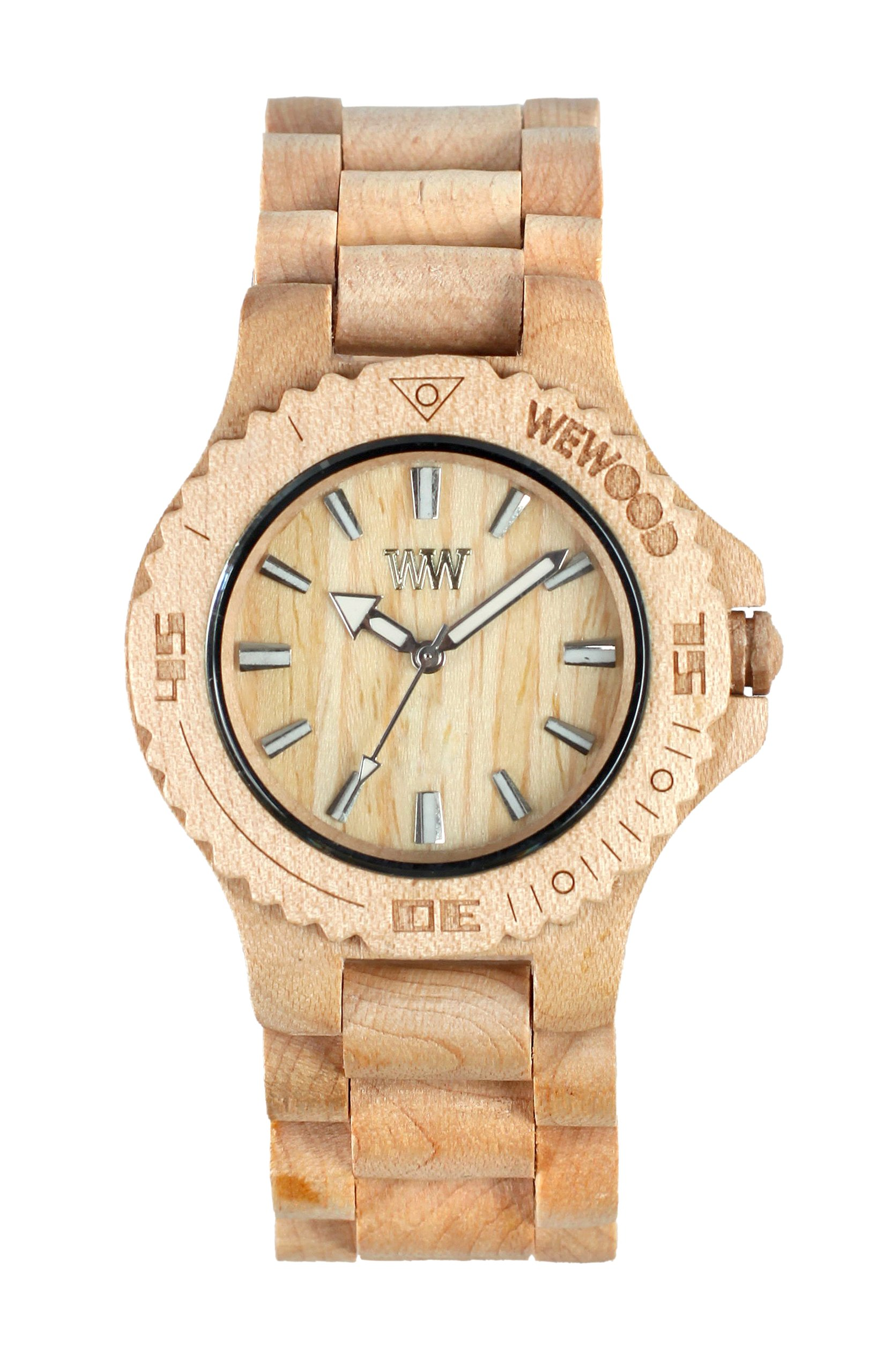 Wewood Men's Date Beige Wooden Watch