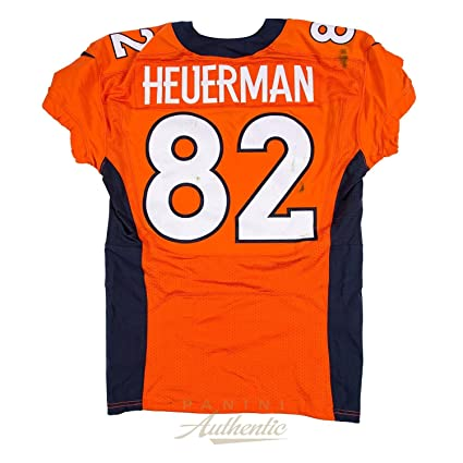 new style b9670 8754c Jeff Heuerman Game Worn Denver Broncos Jersey From 10/9/2016 ...