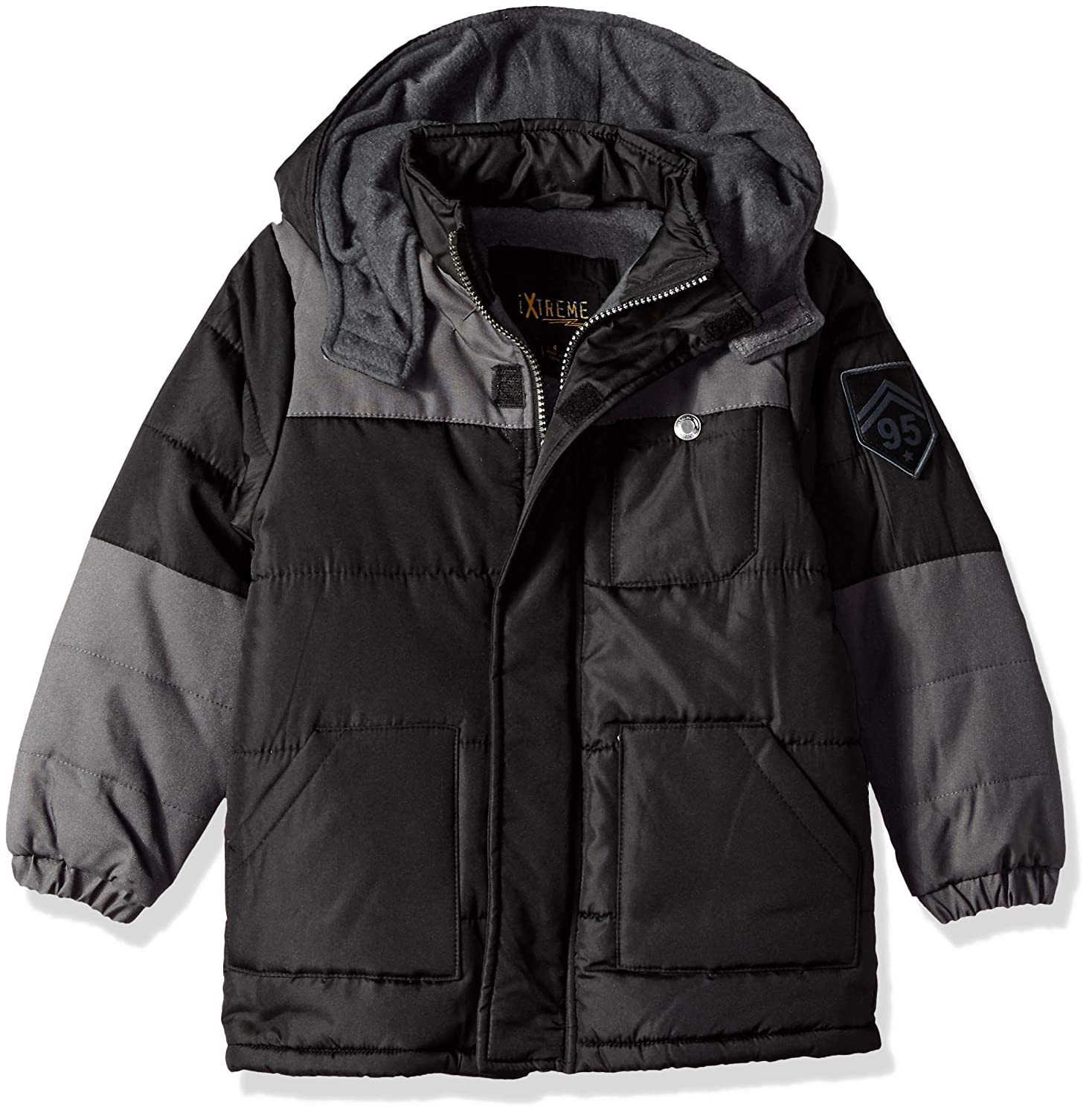 iXtreme Boys' Handstuffed Colorblock Puffer