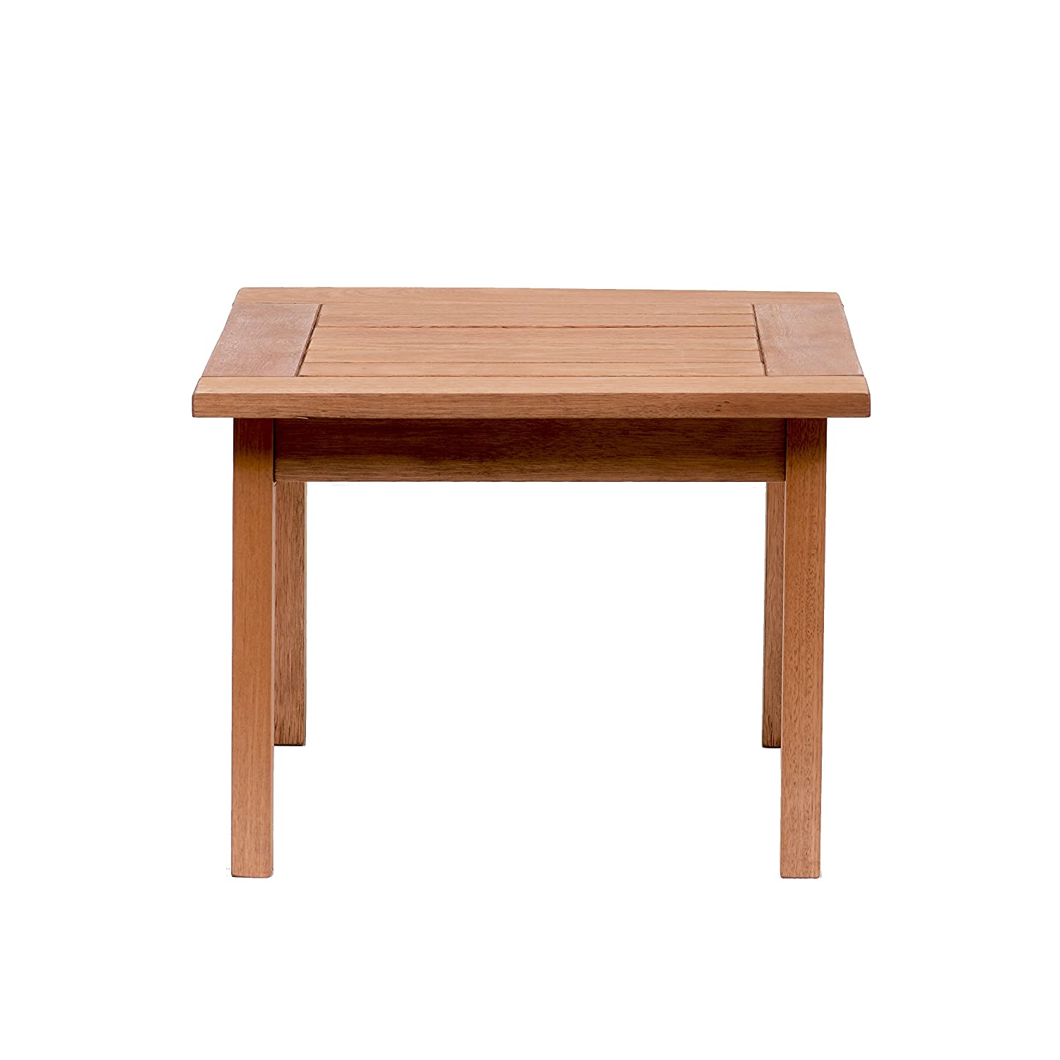 Amazon com amazonia milano square and solid side table super quality eucalyptus wood perfect for gardens and patios patio side tables garden