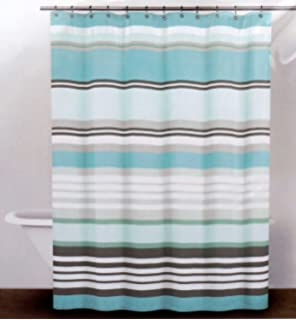 Amazon.com: DKNY Fabric Shower Curtain -- Crosby Stripe, Pale ...