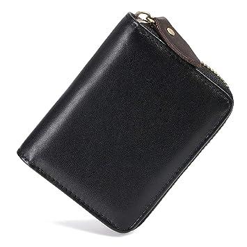 flintronic Tarjetero para Tarjetas de Crédito Piel Auténtica, RFID ...