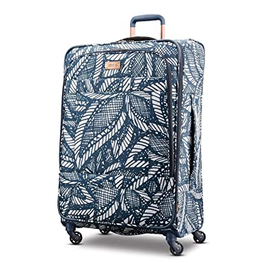 2073cf87ac Amazon.com: American Tourister Checked-Large, Floral Indigo Sand