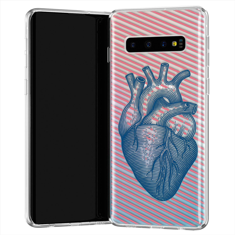 Lex Altern TPU Funda para Samsung Galaxy S20 Plus 5G S10e Note 10 9 Anatomy Heart Carcasa Organ Cubierta Heartbeat Transparente Arterie Delgado Suave Lines Ligera Veins Muscle uk1286