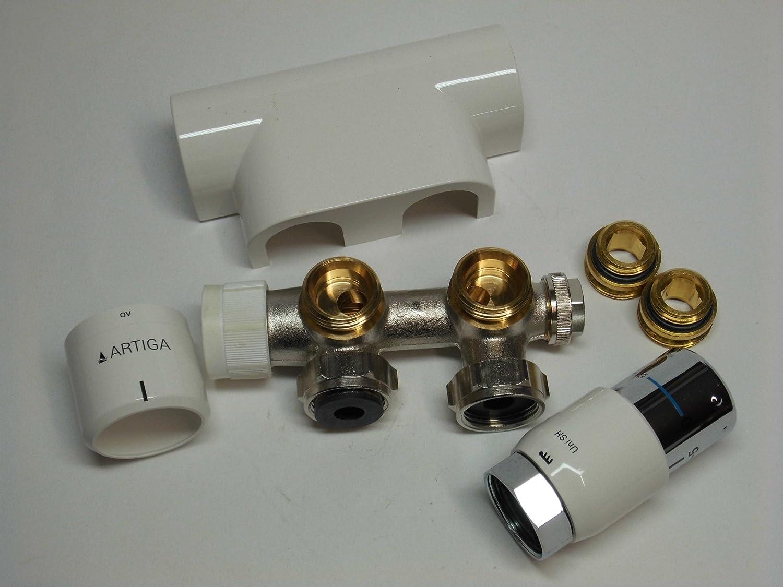 Oventrop Multiblock T Anschlussarmatur Eckform mit Voreinstellung DN 15 50 mm 1//2