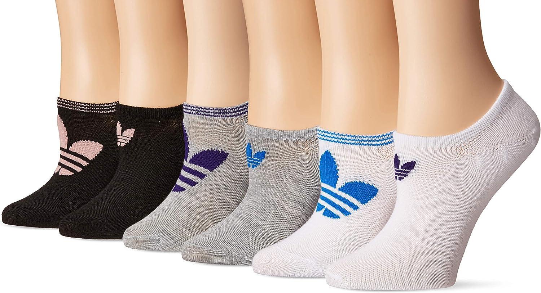adidas Originals Trefoil Superlite No Show Damen Socken, 6 Paar, Damen, Socken, Originals Trefoil Superlite No Show Socks (6 pack), SchwarzRosa