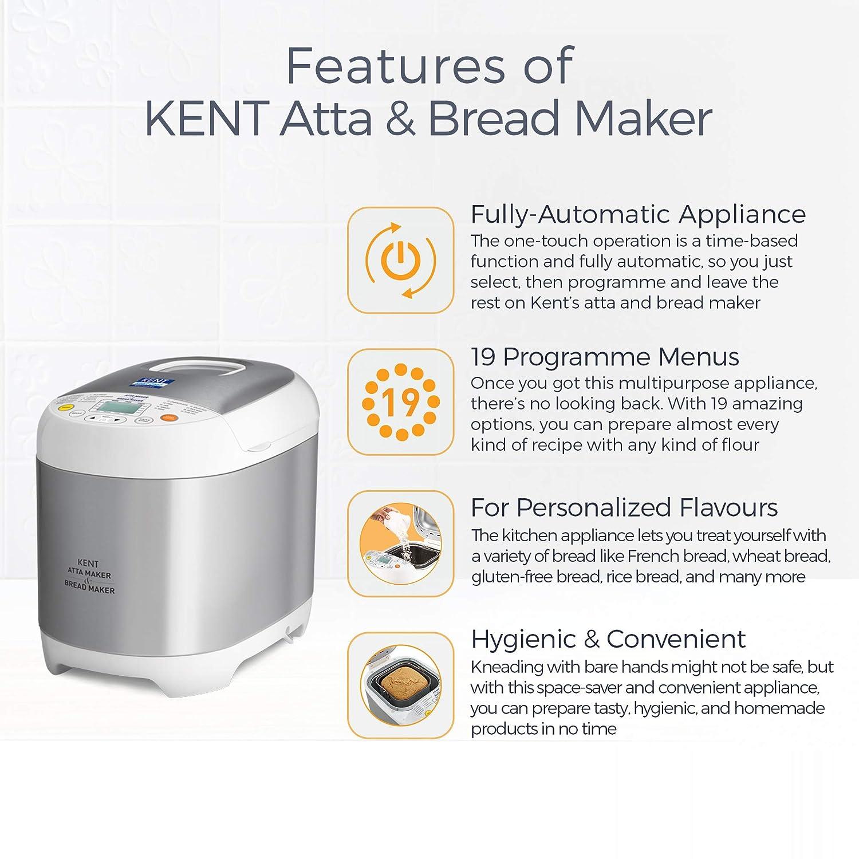 Open-Box & Refurbished (Unused) Kent 16010 550-Watt Aata and Bread Maker (Steel Grey) kida.in