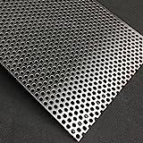 b t metall aluminium lochblech 1 5 mm stark rundlochung 6 mm versetzt rv 6 9 gr e 100 x 100. Black Bedroom Furniture Sets. Home Design Ideas