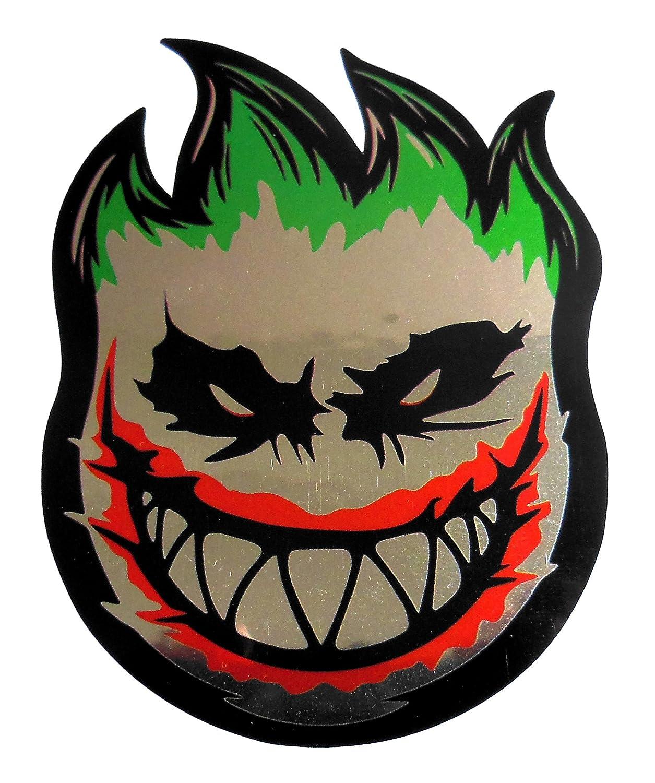 Amazon com vath spitfire flame head joker sticker 60mmw x 80mmh 3 1 8h x 2 3 8w c50 computers accessories