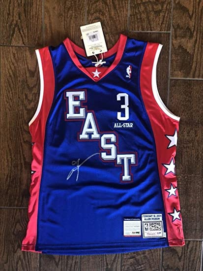 da55e48fe5f Allen Iverson Philadelphia 76ers Autographed Signed M&N All Star Authentic  Jersey PSA/DNA - Size