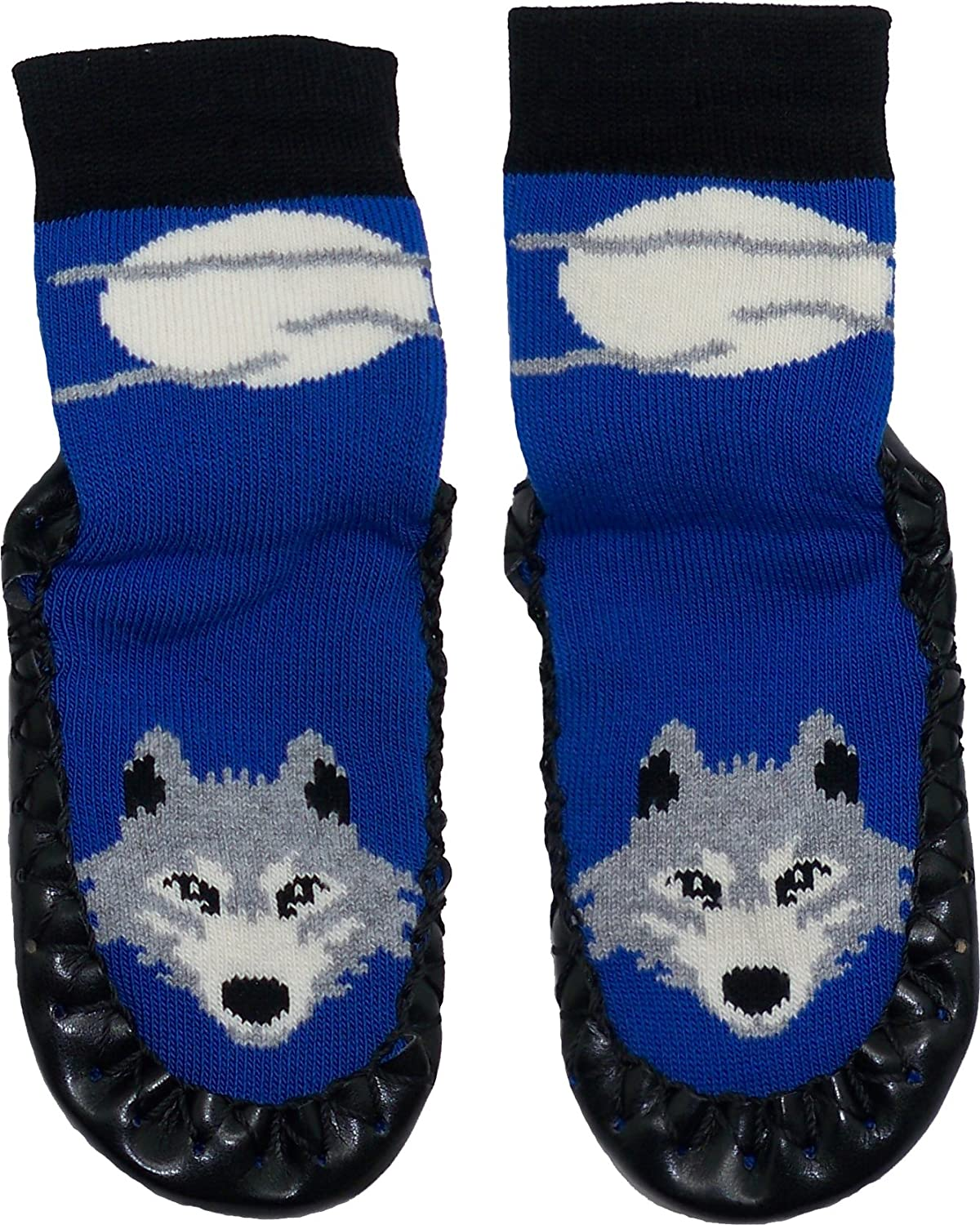 Home Footwear for Toddlers Boys Slipper Socks Konfetti Wolf Moon Kids Swedish Moccasins House Slippers Shoes Pre-Schoolers and Children