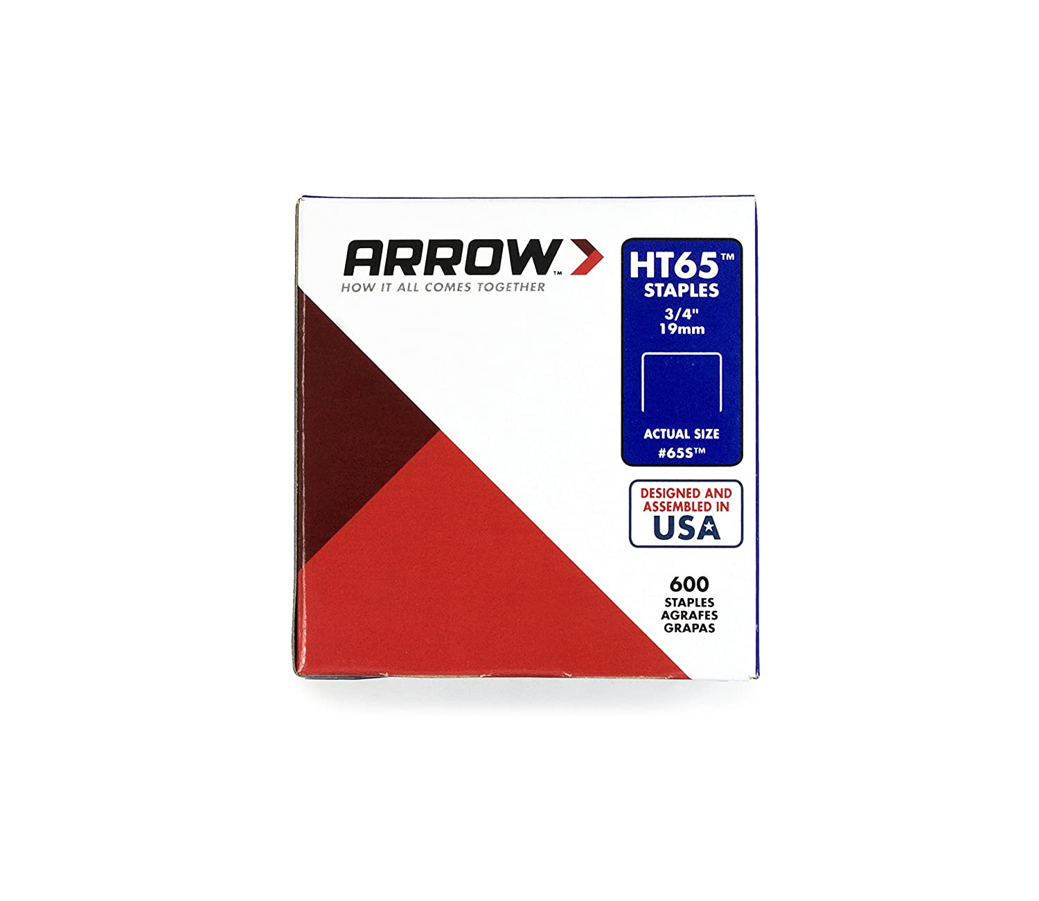 Arrow Staples Ht65s 2500 3/4in Hand Tools Soldering Riveting and Tacking Staples To Suit Arrow HT65