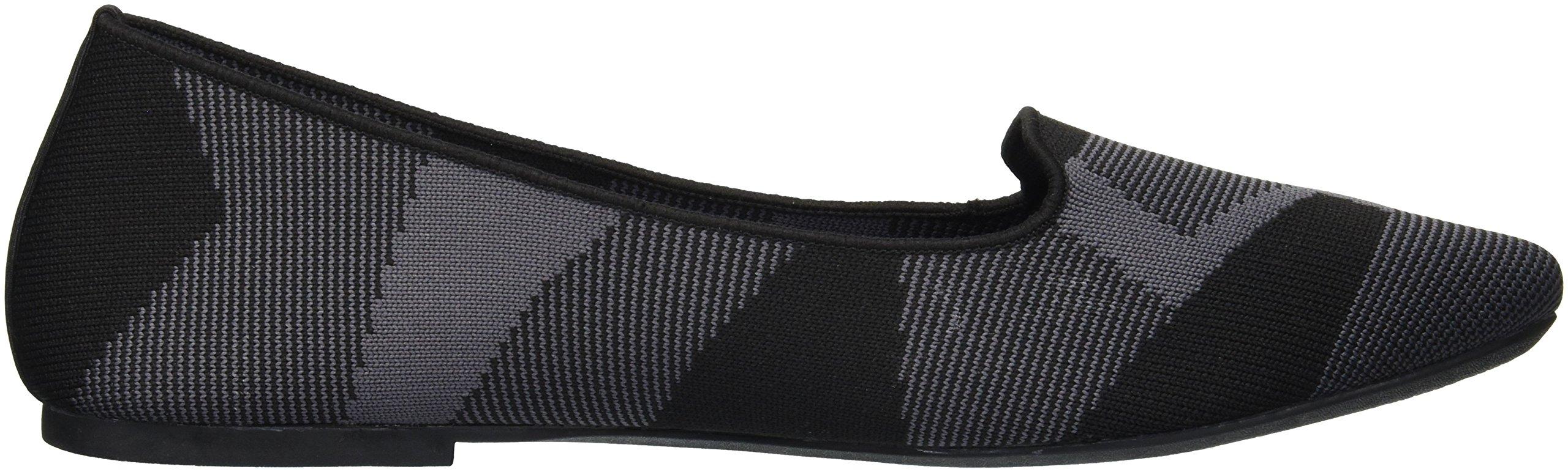 Skechers Women's Cleo-Sherlock-Engineered Knit Loafer Skimmer Ballet Flat, Black, 6.5 M US by Skechers (Image #6)