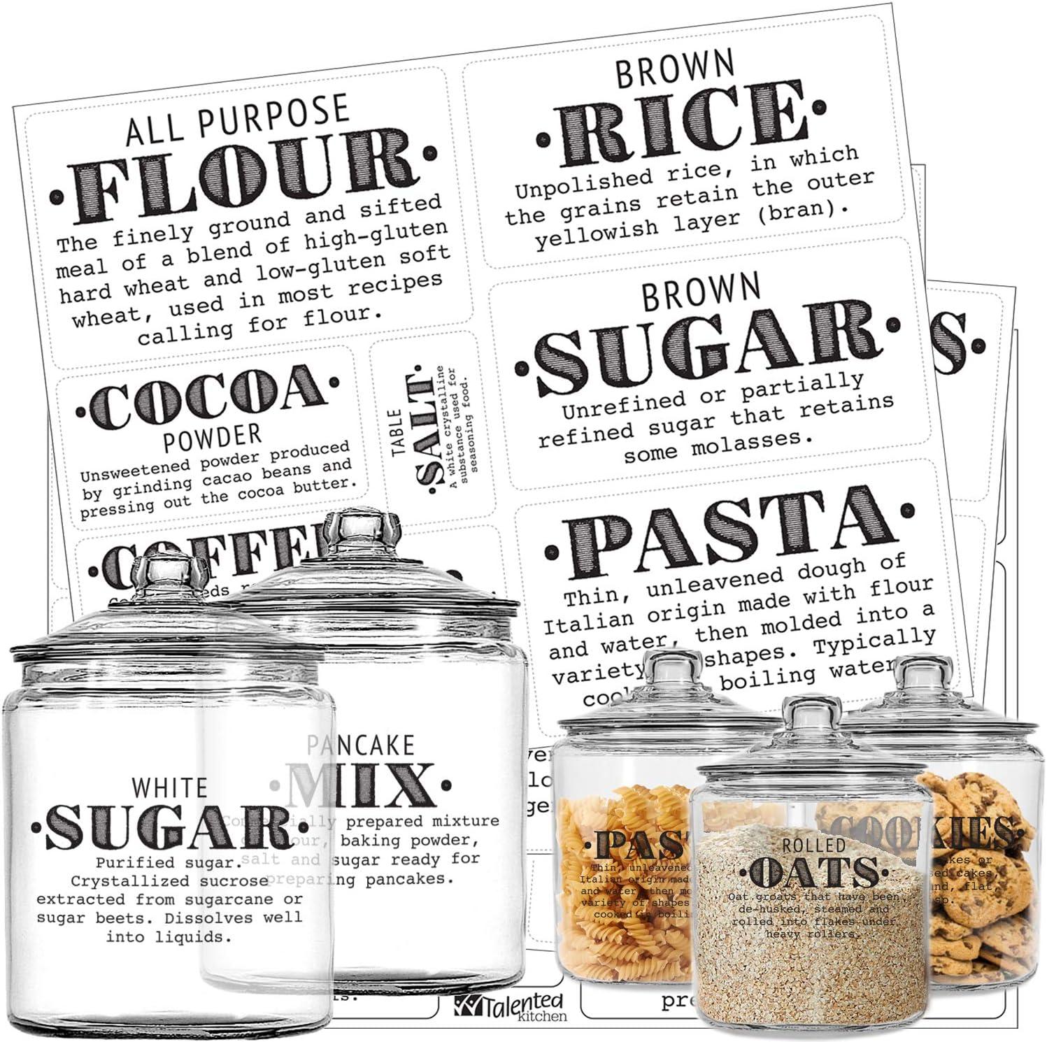 farmhouse labels Rae Dunn inspired kitchen labels kitchen canisters pantry labels kitchen decals farmhouse decor kitchen