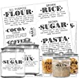 Talented Kitchen Pantry Labels - 36 Preprinted Farmhouse Definitions Pantry Label Stickers. Clear, Water Resistant, Food Jar Label. Jar Decals Pantry Organization and Storage (Set of 36 – Definitions)