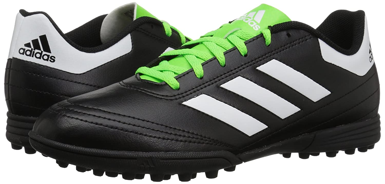 a7eda3560 Amazon.com | adidas Men's Goletto VI TF Soccer-Shoes, Black/White/Solar  Green, 9 M US | Soccer